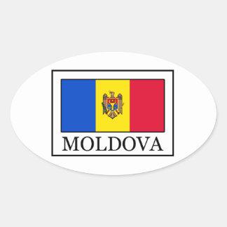 Moldova Oval Sticker