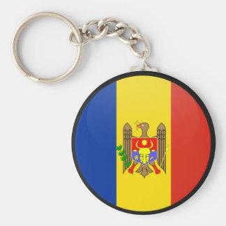 Moldova quality Flag Circle Basic Round Button Key Ring
