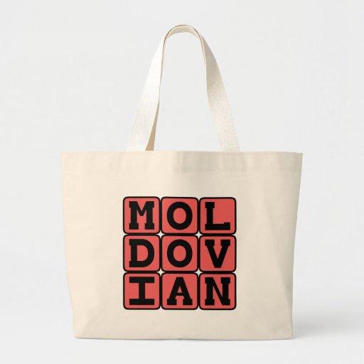 Moldovian, Lanuage of Eastern Europe Canvas Bags