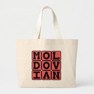 Moldovian Lanuage of Eastern Europe Canvas Bags