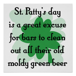 moldy green beer posters