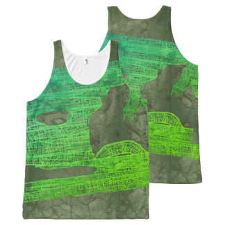 MOLDY HALLOWEEN MUMMY WRAPPING by Slipperywindow All-Over Print Tank Top