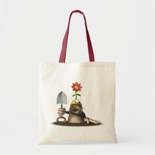 Mole in a Hole Canvas Bags