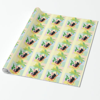 mole on the beach wrapping paper