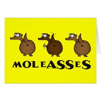 Moleasses Greeting Card