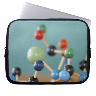 Molecular model laptop sleeve