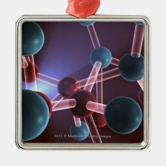Molecular structure of caffeine christmas ornament