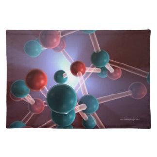 Molecular Structure of Caffeine. Placemat