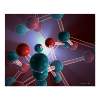 Molecular Structure of Caffeine Posters