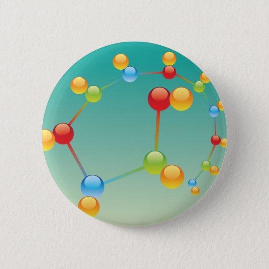 Molecule Vector glossy 6 Cm Round Badge