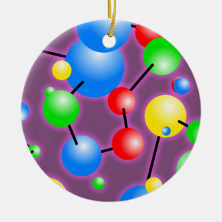 Molecule Wallpaper Christmas Ornament