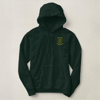 Moleton c university pointed hood embroidered hoodie