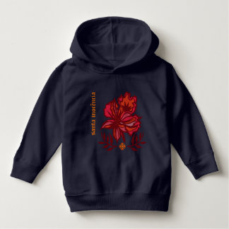 Moleton for children with floral! hoodie