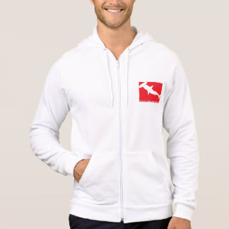 "Moleton with ziper Divers will be Sharks ""Species Hoodie"