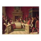 Moliere  Dining with Louis XIV  1857 Postcard