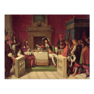 Moliere  Dining with Louis XIV  1857 Post Cards