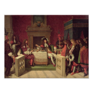 Moliere  Dining with Louis XIV  1857 Poster