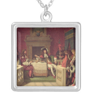 Moliere  Dining with Louis XIV  1857 Silver Plated Necklace