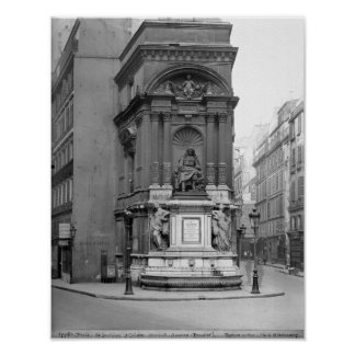 Moliere Fountain, 1844 Poster
