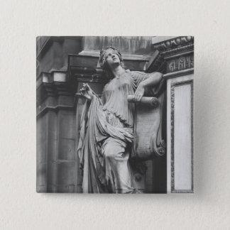 Moliere Fountain, Light Comedy, 1844 15 Cm Square Badge