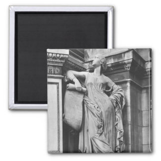 Moliere Fountain, Serious Comedy, 1844 Square Magnet