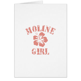 Moline Pink Girl Greeting Cards
