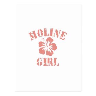 Moline Pink Girl Postcards