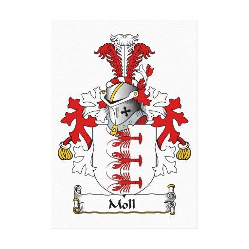 Moll Family Crest Canvas Print