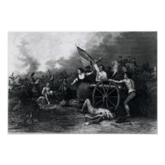 Moll Pitcher at the Battle of Monmouth Poster