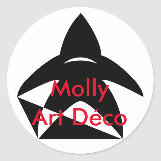 Molly art Deco - Logo Round Sticker