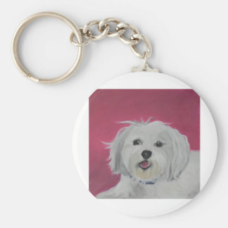 Molly Basic Round Button Key Ring