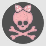 Molly Bow Dot Classic Round Sticker
