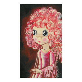 """Molly"" ~ Cute Big Eyed Red Angel Posters"