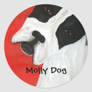 Molly Dog Classic Round Sticker