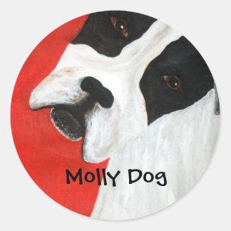 Molly Dog Round Sticker