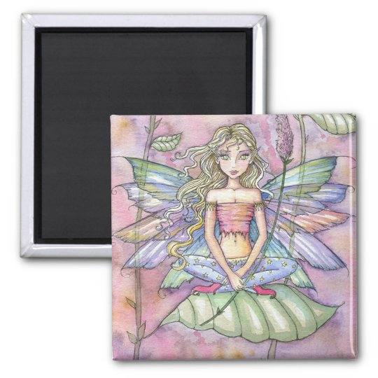 """""""molly harrison illustrations"""" square magnet"""