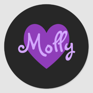 Molly in Purple Classic Round Sticker