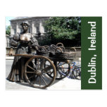 Molly Malone and Wheelbarrow Statue Ireland Card
