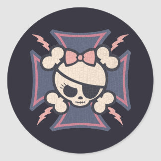 Molly Maltese Round Sticker