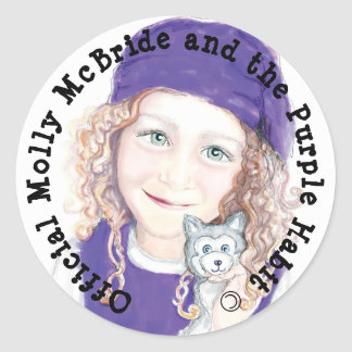 Molly McBride Stickers! Classic Round Sticker