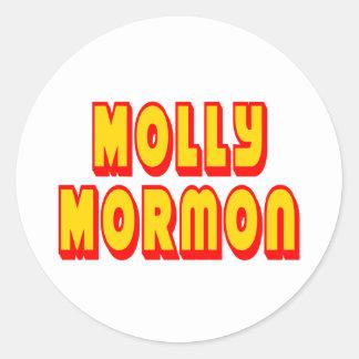 Molly Mormon Classic Round Sticker