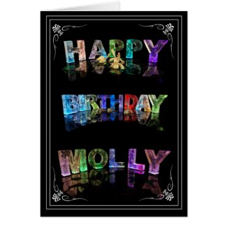Molly - Name in Lights greeting card (Photo)