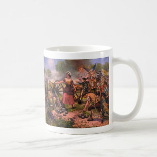 Molly Pitcher Firing Cannon at Battle of Monmouth Basic White Mug