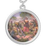 Molly Pitcher Firing Cannon at Battle of Monmouth Necklace