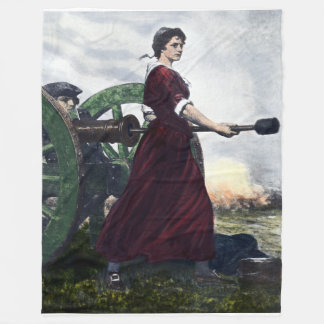 Molly Pitcher - Revolutionary War Patriot Fleece Blanket