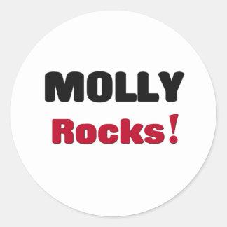 Molly Rocks Round Sticker
