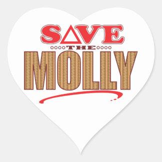 Molly Save Heart Sticker