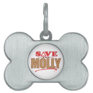 Molly Save Pet Tag