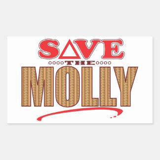 Molly Save Rectangular Sticker