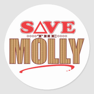 Molly Save Round Sticker